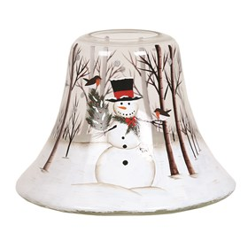 Candle Jar Lamp - Snowman