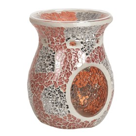 Wax Melt Burner - Coral & Silver