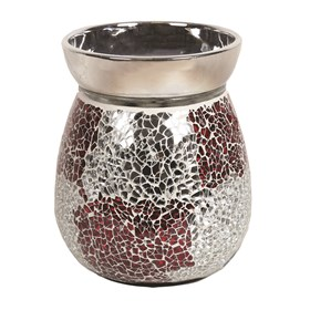 Electric Wax Melt Burner - Red & Silver