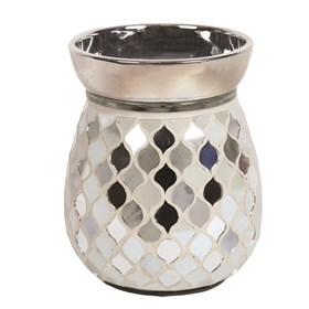 Electric Wax Melt Burner - Pearl & Silver