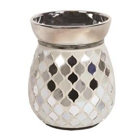 Electric Wax Melt Burner - Pearl & Silver