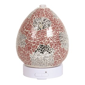 LED Ultrasonic Diffuser - Coral & Silver