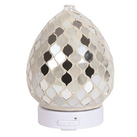 LED Ultrasonic Diffuser - Pearl & Silver