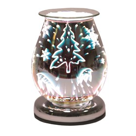 Oval 3D Electric Wax Melt Burner - Reindeer