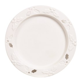 Ceramic Candle Plate - Holly