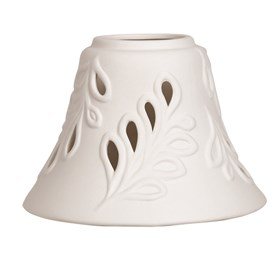 Ceramic Candle Jar Lamp Shade - Leaf