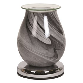 Touch Electric Wax Melt Burner - Grey Swirl Oval