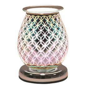Oval 3D Electric Wax Melt Burner - Geo Circle