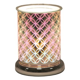 Cylinder 3D Electric Wax Melt Burner - Geo Circle