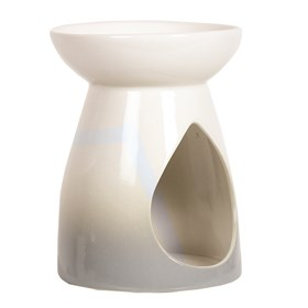 Wax Melt Burner - Grey Teardrop Burner