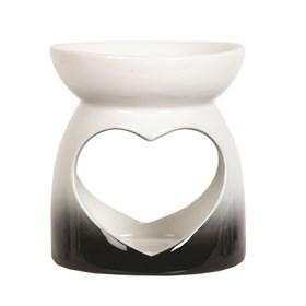Wax Melt Burner - Black Heart Burner
