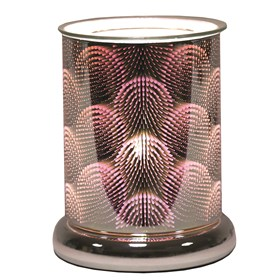 Cylinder 3D Electric Wax Melt Burner - Circles