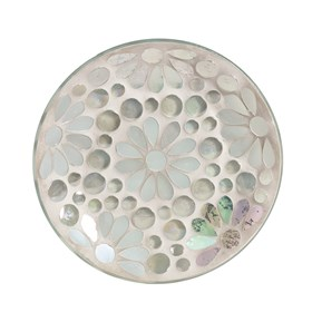 Candle Plate - Pearl Floral