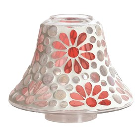 Candle Jar Lamp - Pink Floral