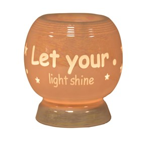 Sentiment Electric Wax Melt Burner - Let Your Light Shine