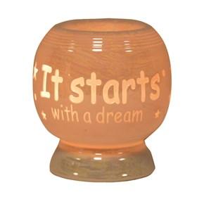 Sentiment Electric Wax Melt Burner - It Starts With A Dream