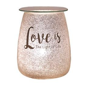 Electric Wax Melt Burner - Glitter 'Love Is The Light Of Life'