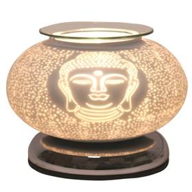 Electric Wax Melt Burner Touch - White Satin Buddha Ellipse