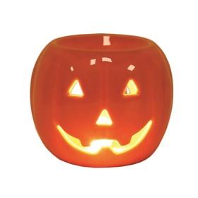 Wax Melt Burner - Pumpkin Round Orange
