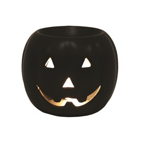 Wax Melt Burner - Pumpkin Round Black