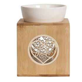Wax Melt Burner – Zen Bamboo Love Heart