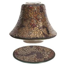 Jar Shade & Tray Set - Amber Crackle