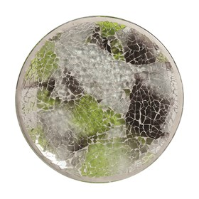Candle Plate - Jade Crackle