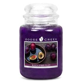 Black Amber Plum 24oz Scented Candle Jar