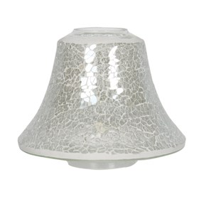 Clear Lustre Crackle Mosaic Candle Jar Lamp Shade