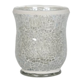 Clear Lustre Crackle Mosaic Hurricane