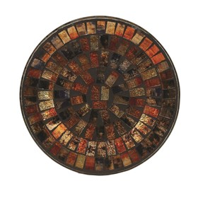 Copper Metallic Candle Plate