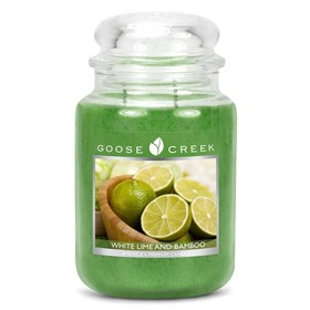White Lime & Bamboo 24oz Scented Candle Jar