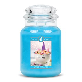 Unicorn Candy Goose Creek Scented Candle Jar