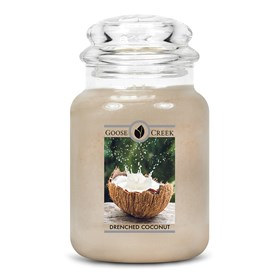 Drenched Coconut Goose Creek Scented Candle Jar