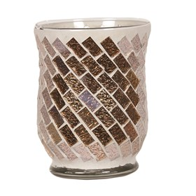Hurricane Tealight Holder - Gold Foil Swirl