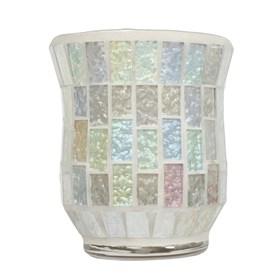 Hurricane Tealight Holder - Ice White Lustre Mosaic
