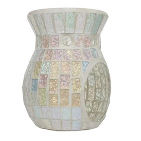 Wax Melt Burner - Ice White Lustre Mosaic