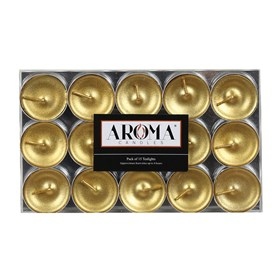 Metallic Gold Tealights - Pack of 15