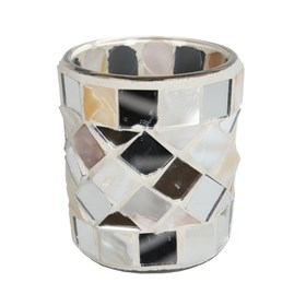 Mother of Pearl Mosaic Votive Holder