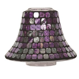 Purple Metallic Mosaic Candle Jar Lamp Shade