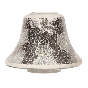 Silver Mirror Crackle Jar Lamp Shade