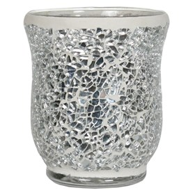Hurricane Tealight Holder - Silver Lustre Mosaic