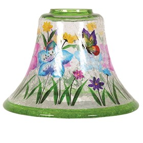 Hand Painted Butterfly Candle Jar Lamp Shade