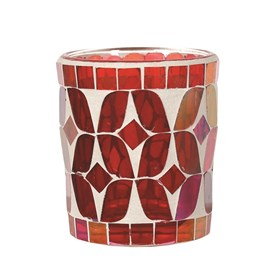 Cherry Lustre Votive Candle Holder