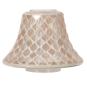 Candle Jar Lamp Shade - Glittered Teardrop Mosaic
