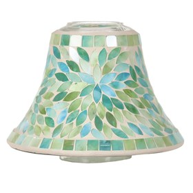 Candle Jar Lamp Shade - Mint Petals