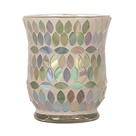 Hurricane Tealight Holder - Aqua Pearl