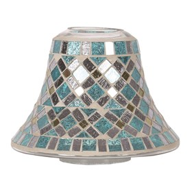 Blue Mirror Candle Jar Lamp Shade