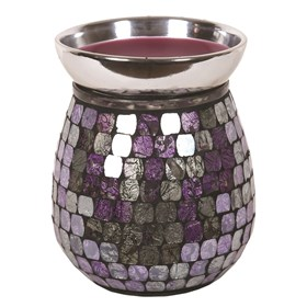 Purple Metallic Mosaic Electric Wax Melt Burner