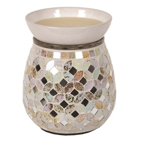 Cream & Gold  Metallic Mosaic Electric Wax Melt Burner